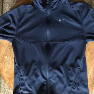 NIKE DRI-FIT JACKET (BLUE, MED, MID WEIGHT)